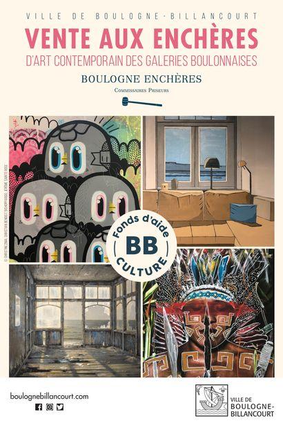 Vente au profit des galeries boulonnaises dans le cadre du FondS d'Aide à Culture de la  Ville de Boulogne-Billancourt