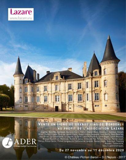 [VENTE EN LIGNE] Vente en ligne de grands vins de Bordeaux au profit de l'association Lazare