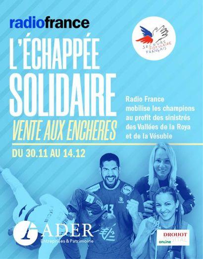 [VENTE EN LIGNE] RADIO FRANCE : l'Echappée Solidaire au profit du Secours Populaire