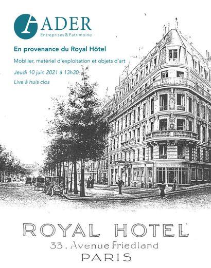 [VENTE EN PREPARATION] En provenance du Royal Hôtel : Mobilier, matériel d'exploitation et objets d'art