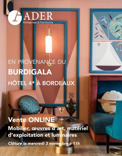[VENTE EN LIGNE] En provenance du Burdigala, hôtel 4* à Bordeaux : Mobilier, oeuvres d'art, matériel d'exploitation et luminaires