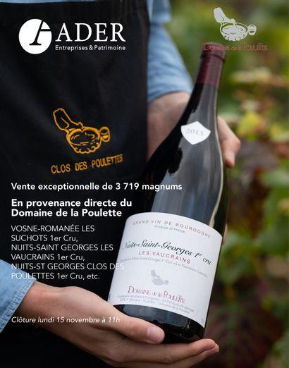 [VENTE EN LIGNE] 3719 magnums, en provenance directe du Domaine de la Poulette (Bourgogne Nuits-Saint-Georges)