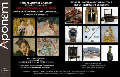 Atelier André-Albert TONDU (1903-1980) 100 tableaux et dessins