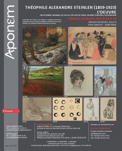 Théophile Alexandre STEINLEN (1859-1923), L'Oeuvre