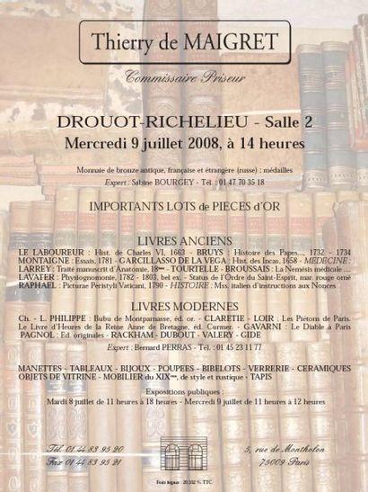 Mobilier & objets d'art - Bijoux - Livres modernes