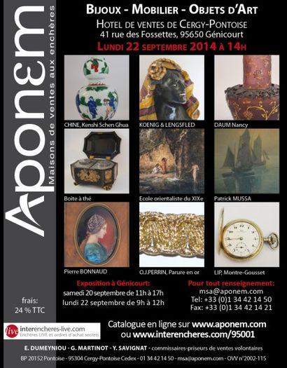 BIJOUX & ARGENTERIE - MOBILIER - OBJETS D'ART