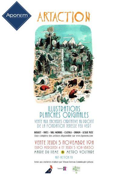 ILLUSTRATIONS - PLANCHES ORIGINALES /  ARTACTION - Vente caritative