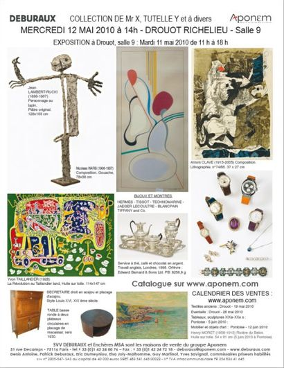 Bijoux, Tableaux, Mobilier et Objets d'art