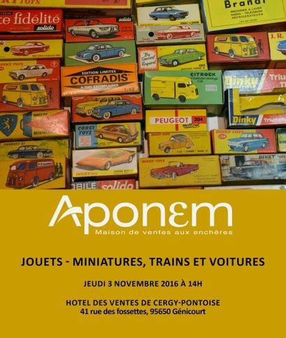 Jouets, trains, voitures miniatures