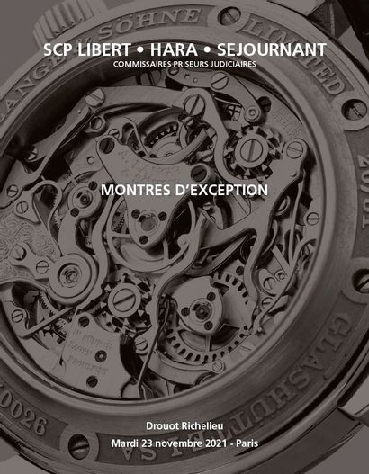 Exceptional Watches - Judicial Sale