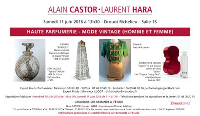 Mode Vintage - Vestiaire Masculin (Expert Monsieur Ludot) Flacon de parfums ( expert : Monsieur Gangler)
