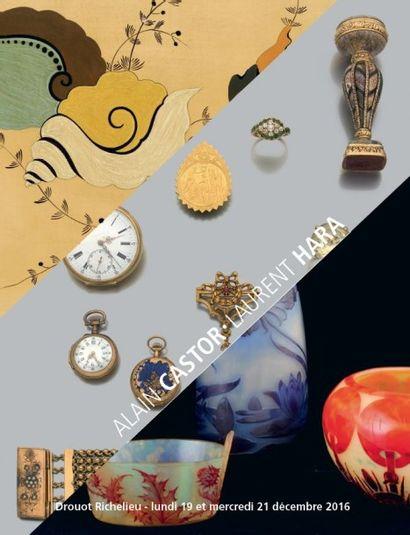 Parfums, Argenterie, Tableaux modernes, Sculpture, Importante collection de verrerie Art nouveau et art déco