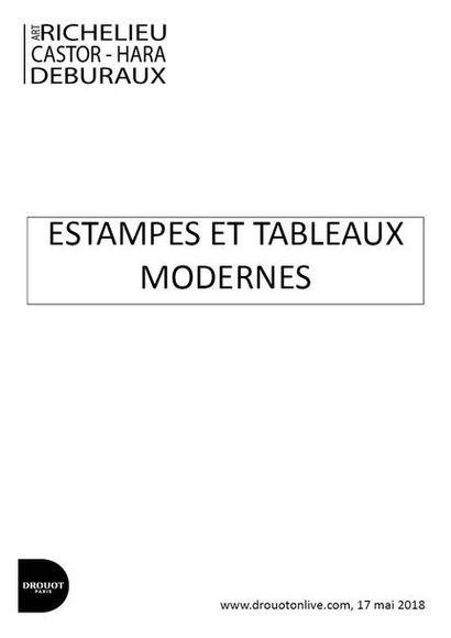 ESTAMPES ET TABLEAUX MODERNES ET CONTEMPORAINS