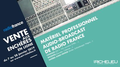 Radio France - Matériel technique (consoles, enceintes, matériel audio vintage...)