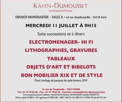 Vente à Drouot Montmartre
