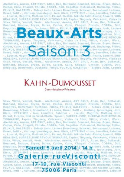 Vente Beaux-Arts, Saison 3 Estampes, manuscrits, photographies, revues, documentation beaux-arts