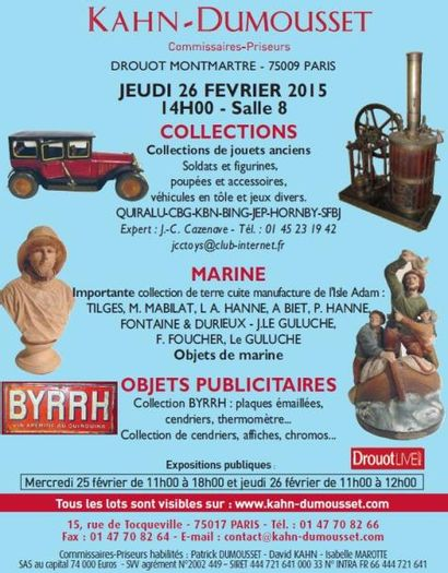 Collections, Marine, Objets publicitaires