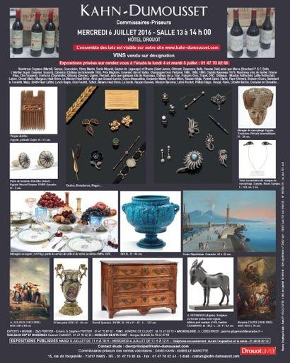 Tableaux, mobilier et objets d'art, vins