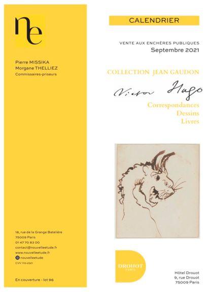 Collection Jean GAUDON - VICTOR HUGO : Dessins, correspondances, livres