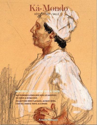 Gastronomie et Œnologie, sous les auspices de Comus et de Bacchus. Collections Rémi Flachard, Jacques Borie, chef de L'Osier à Tokyo, et à divers