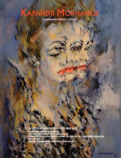 Livres illustrés modernes, mémoire de l'atelier Blanchet. Tableaux modernes, fonds de la Galerie Pierre Domec, au profit de l'Académie française et divers.