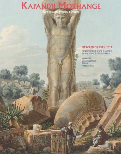 Bibliothèque d'un château en Provence et à divers. Voyages - Découvertes - Atlas - Americana.
