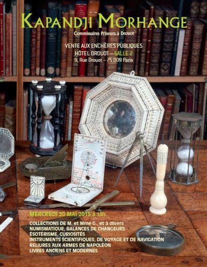 Collections de M. et Mme G., et à divers : Instruments Scientifiques, Livres Anciens et Modernes, Reliures de Napoléon, Numismatique