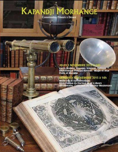 Livres Anciens, Voyages, Sciences, Optique<br>Bibliothèque Philippe Renault : Magie et Jeux<br>Poids et Mesures