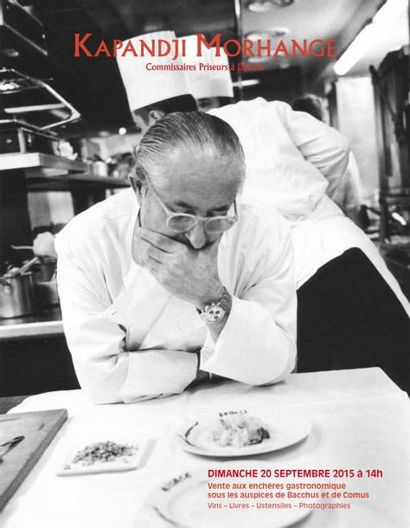 Vente Gastronomique sous les Auspices de Bacchus et de Comus - Bibliothèque Gourmande - Ustensiles - Photographie