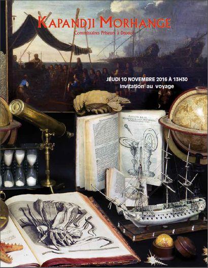 invitation au voyage, livres, manuscrits anciens et modernes, tableaux, gravures, maquettes, instruments de navigation, cartes