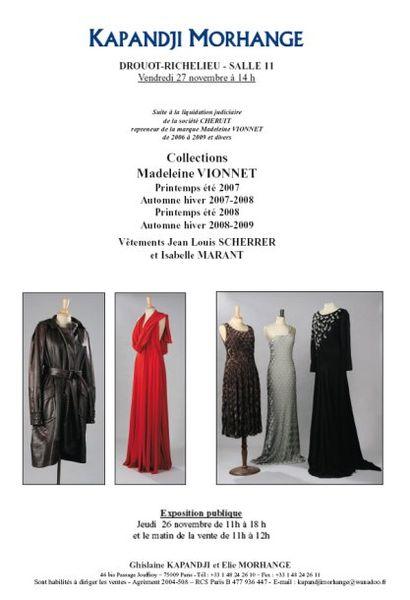 sarl CHERUIT repreneur de la marque Madeleine VIONNET