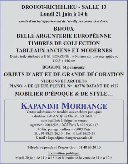 Tableax - Meubles et objets d'art - bijoux - argenterie...