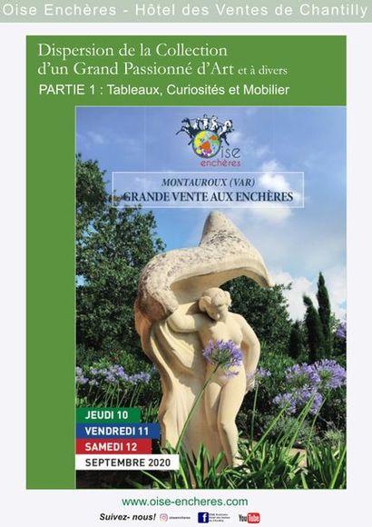 DISPERSION DE LA COLLECTION D'UN GRAND PASSIONNE D'ART et à divers, PARTIE 1 - Lots 1 à 299 : Tableaux, Curiosités et Mobilier
