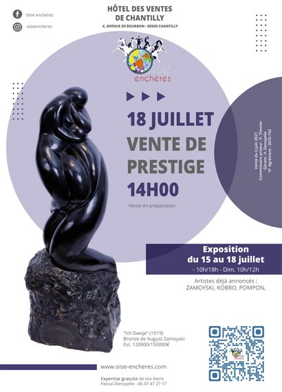 Prestige sale, works of art, sculptures and furniture from the 18th to the 20th century