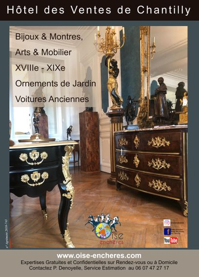 Jewelries & Watches, Sculptures, 18th - 19th c. Works of art & Furniture, Garden Ornaments, Classic Cars
