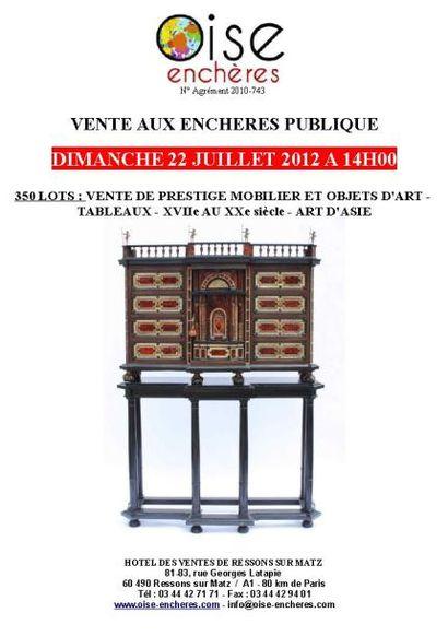 VENTE DE PRESTIGE MOBILIER & OBJETS D'ART