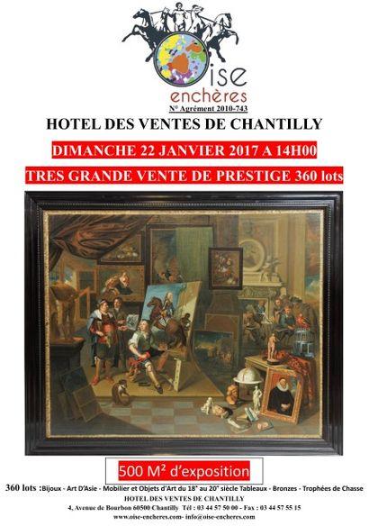 Très grande vente de prestige, Bijoux - Art D'Asie - Mobilier et Objets d'Art du 18° au 20° siècle - Tableaux - Bronzes - Trophées de Chasse