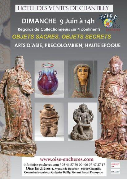 VENTE D'ARTS D'ASIE, PRECOLOMBIENS, D'AFRIQUE ET HAUTE EPOQUE OBJETS SACRES OBJETS SECRETS