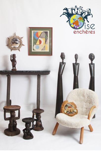 VENTE D'ARTS PREMIERS D'AFRIQUE et ARTS DU XXE, MOBILIER, ARTS DECORATIFS,LIVRES D'ART, LITHOGRAPHIES et GRAVURES