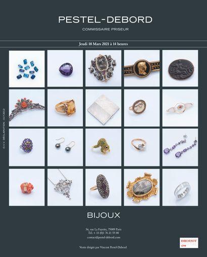 VENTE DE BIJOUX : 9 lingotins, collection de pierres précieuses, perles et bijoux