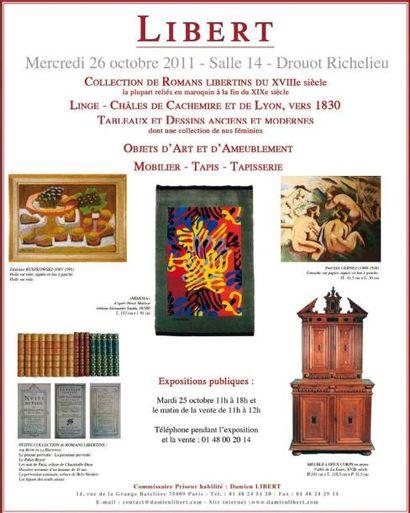 Livres, Tableaux, meubles et objets d'art