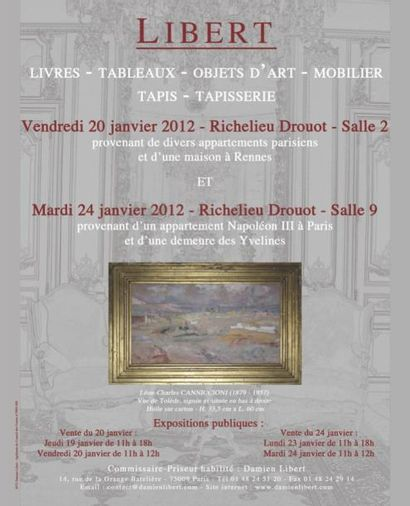 Tableaux - Objets d'Art - Meubles - Tapis