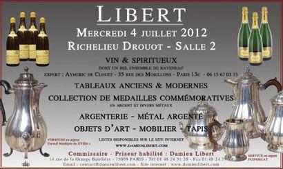 VINS - MEDAILLES - ARGENTERIE - Meubles et objets d'art, tapis...