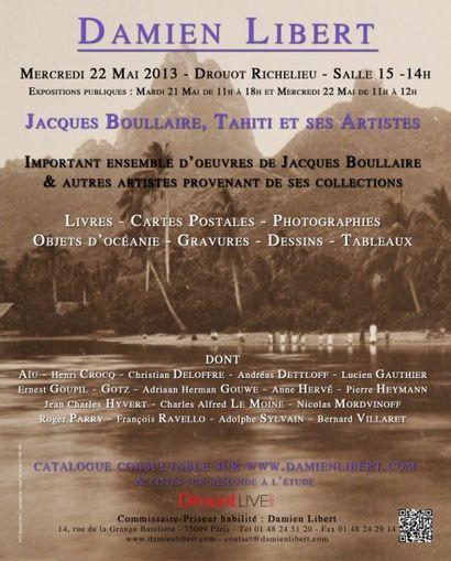 Jacques Boullaire, Tahiti & ses artistes