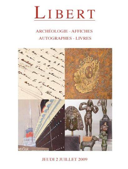 ARCHÉOLOGIE - AFFICHES - AUTOGRAPHES - LIVRES