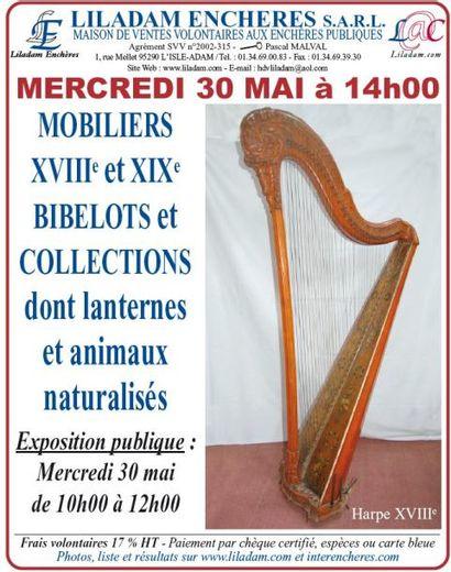 VENTE COURANTE : MOBILIERS XVIIIe XIXe -BIBELOTS ET COLLECTIONS