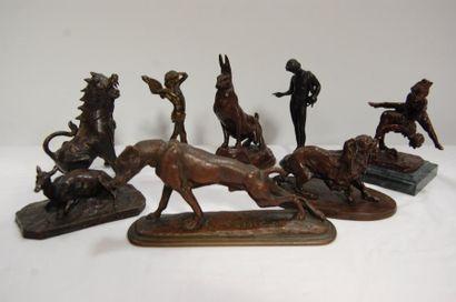 sculptures, bronzes