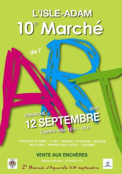 VENTE MARCHE DE L'ART A L'ISLE ADAM
