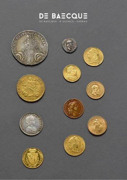 [vente live à huis clos] Numismatique, or et petits bijoux