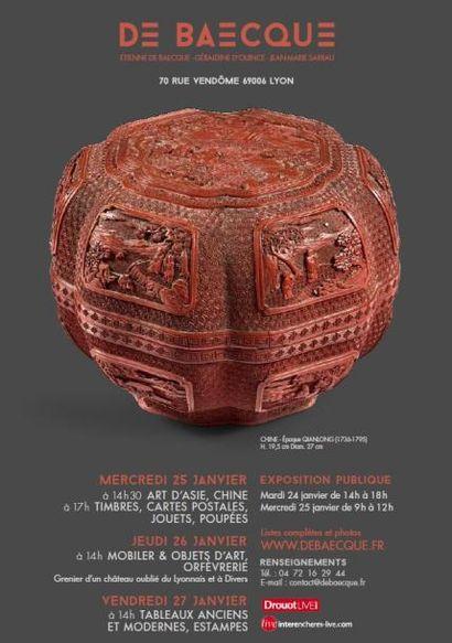 MOBILIER & OBJET D'ART , ORFÈVRERIE , Grenier d'un château du Lyonnais et divers